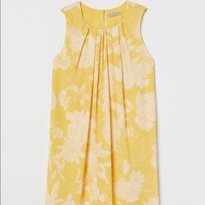 H&M Yellow Floral Summer Dress NWT